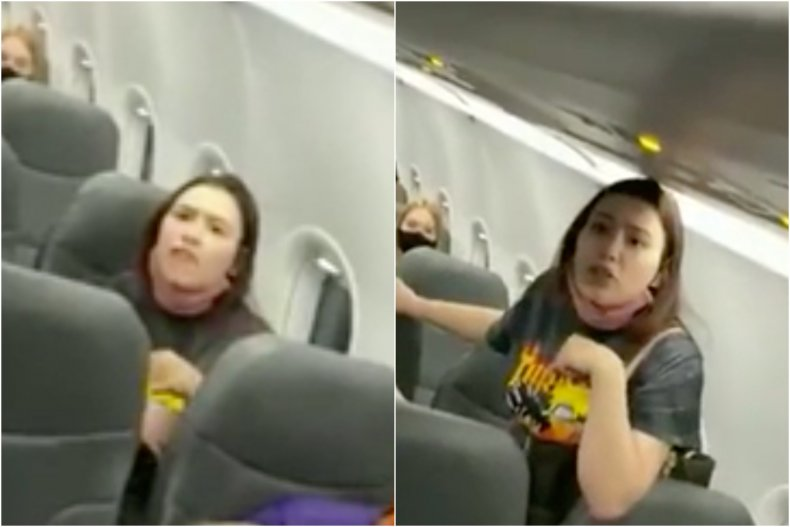 Reddit plane maskless woman meltdown