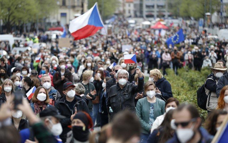 Protests Czech Republic