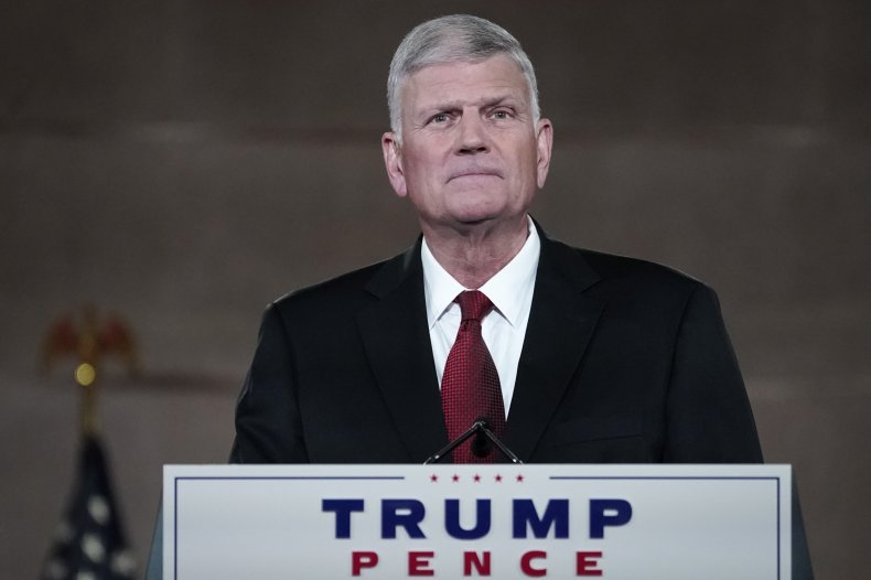 Franklin Graham at the 2020 Republican Convention