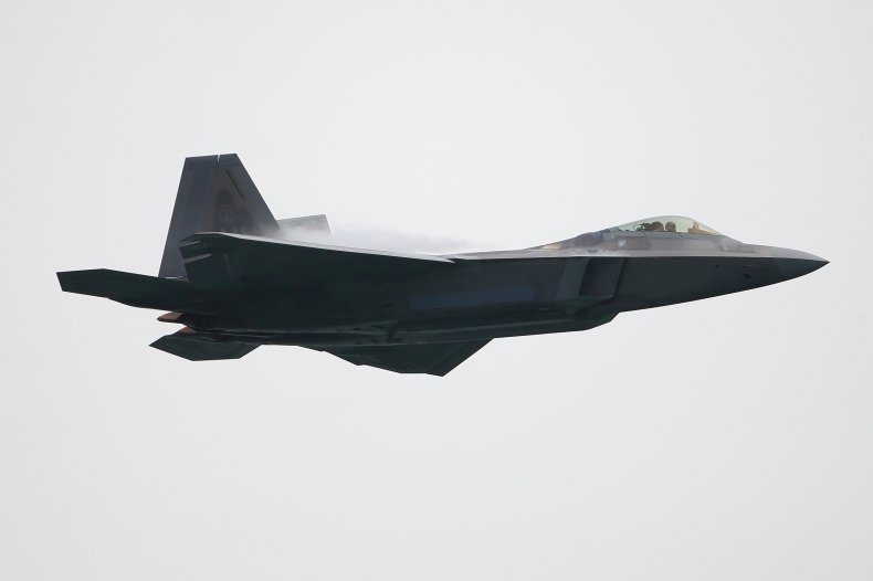 A US Air Force F-22 fighter jet