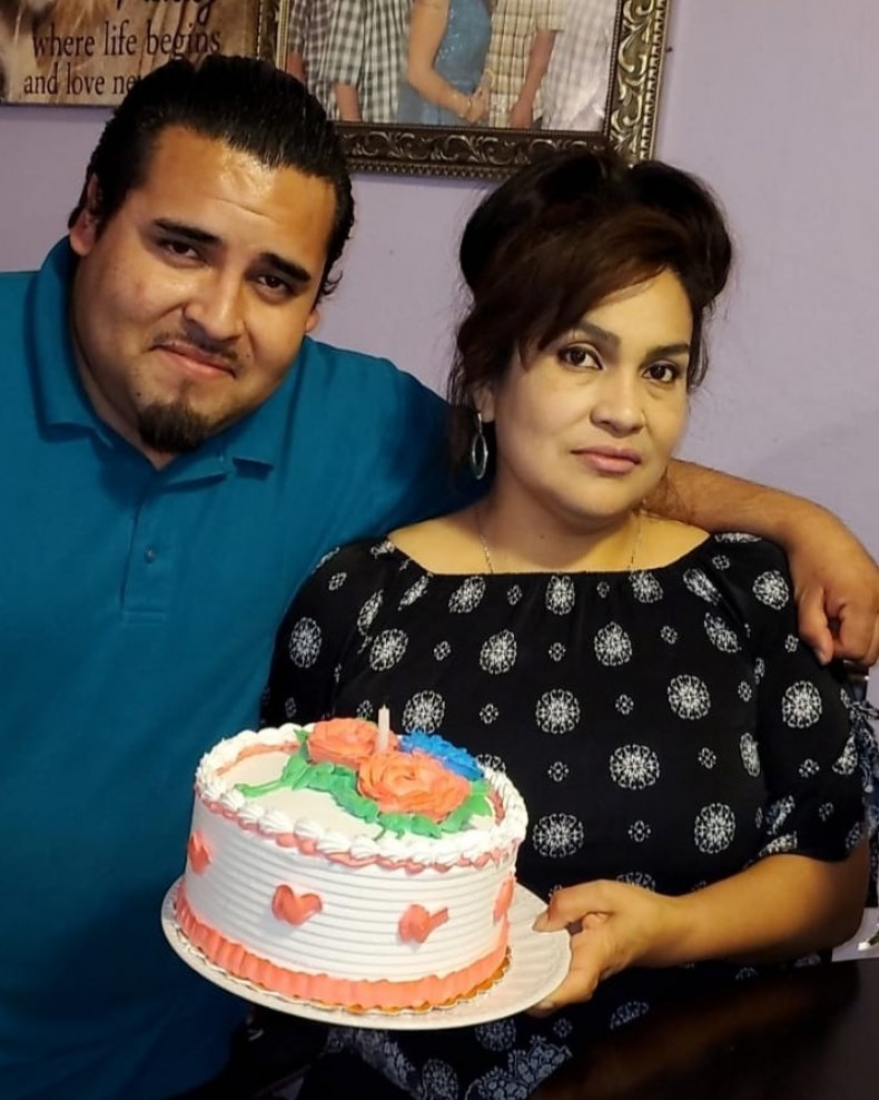 Mario Gonzalez and his mother