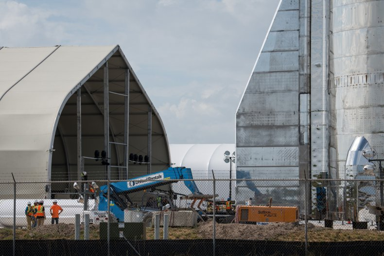 SpaceX Boca Chica facility in Texas