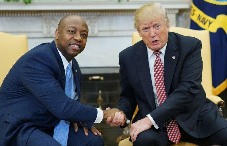 Tim Scott and Donald Trump in 2018