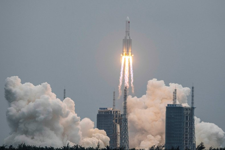 Chinese space station first module launches