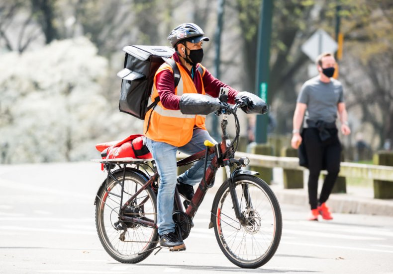 NYC delivery person