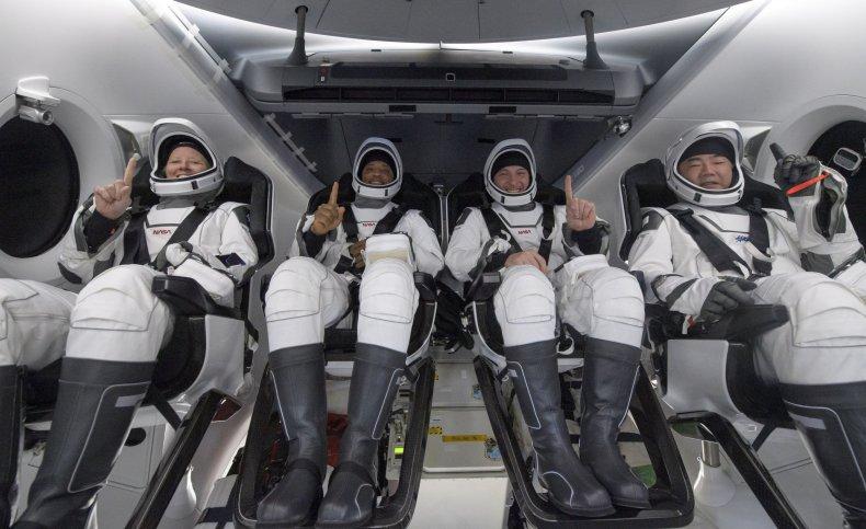NASA and JAXA astronauts on SpaceX mission