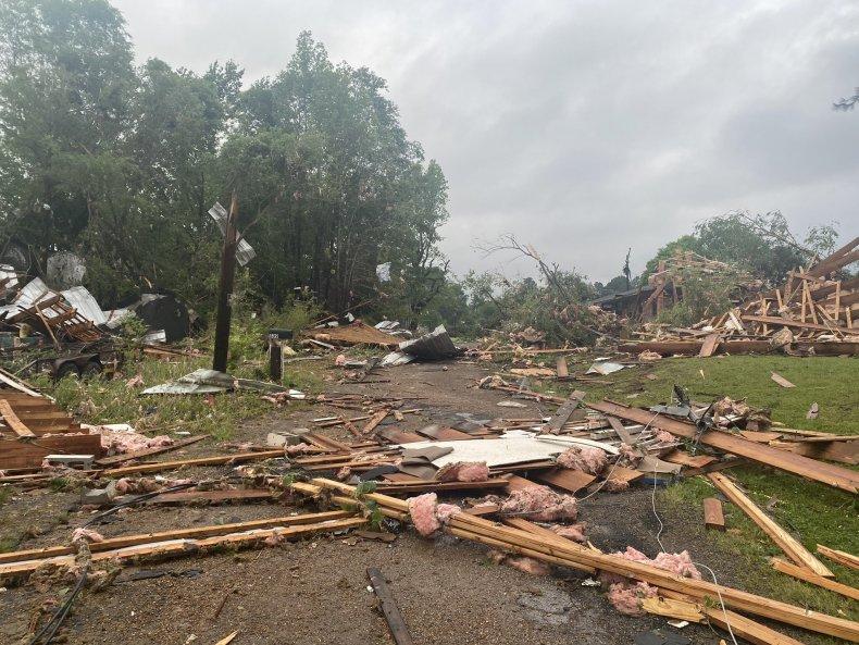 Missisippi Tornado Calhoun City Damage Tupelo