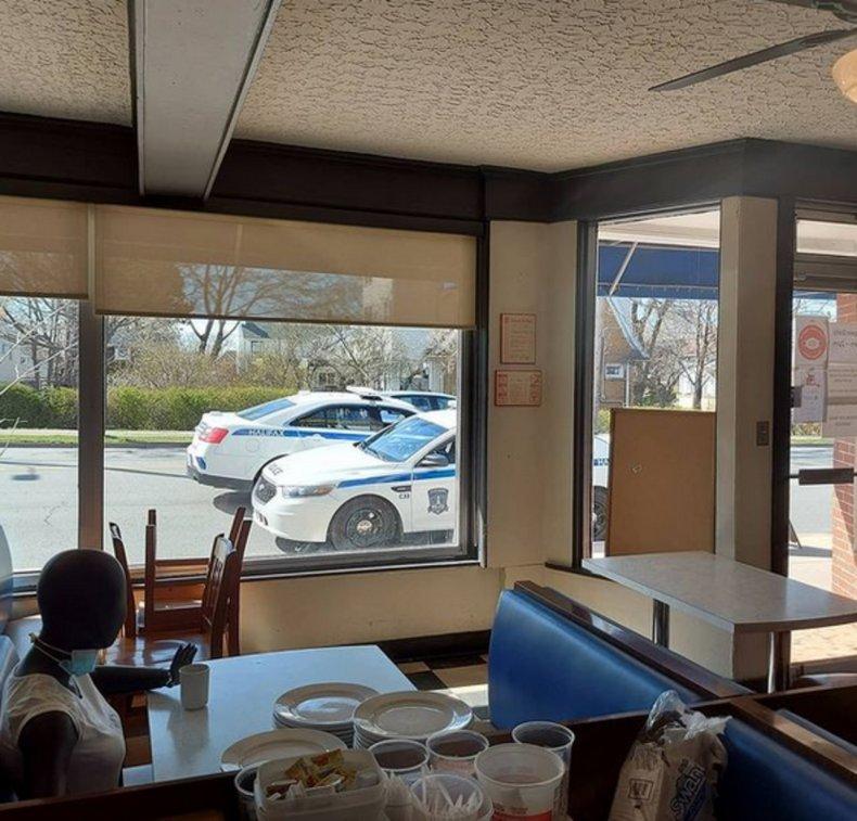 Cops investigating COVID-19 violation discover mannequin.