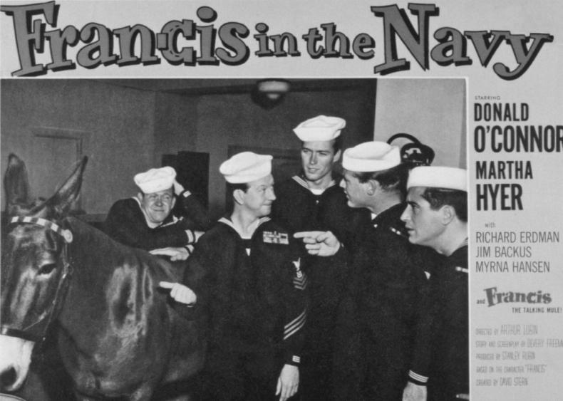 1955: Movie debut in monster flick