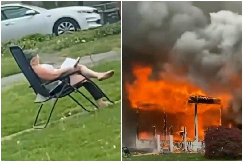 Maryland House Set on Fire