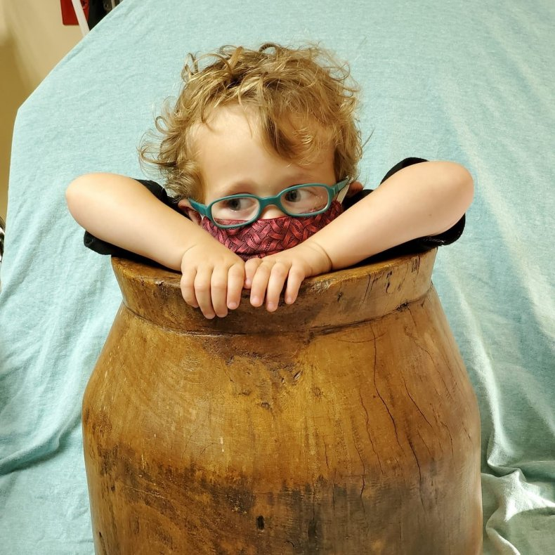 Tennessee toddler Dorian trapped in a barrel.