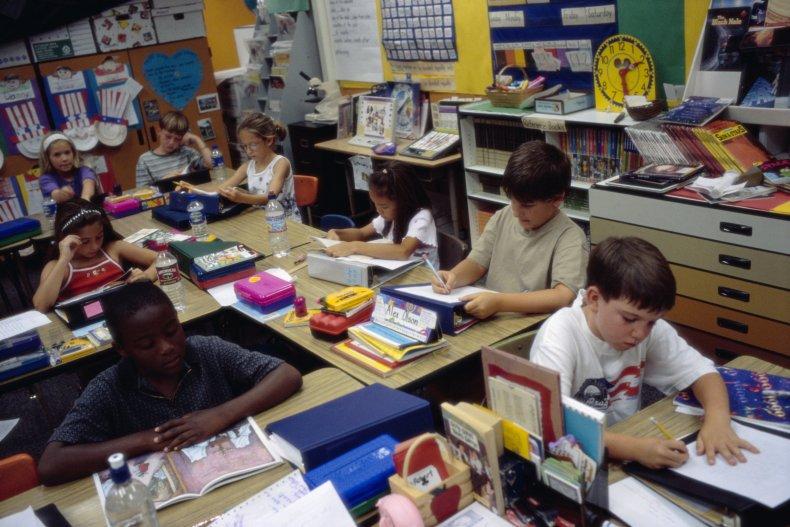 Elementary school classroom in San Diego, California