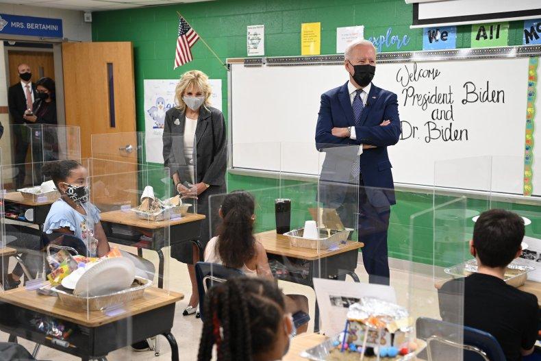 Joe Biden Jill Virtual Classroom Elementary School