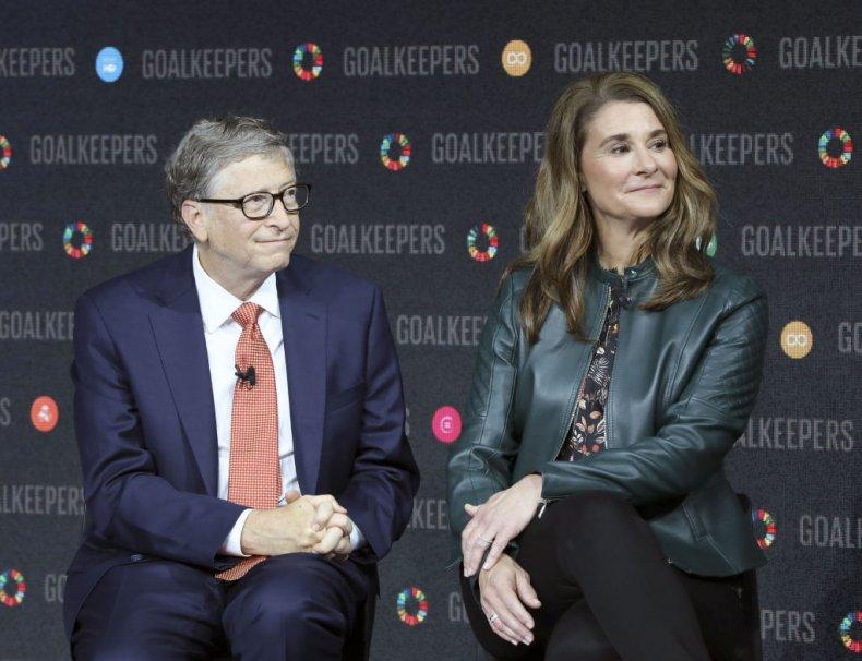 Bill and Melinda Gates at Goalkeepers
