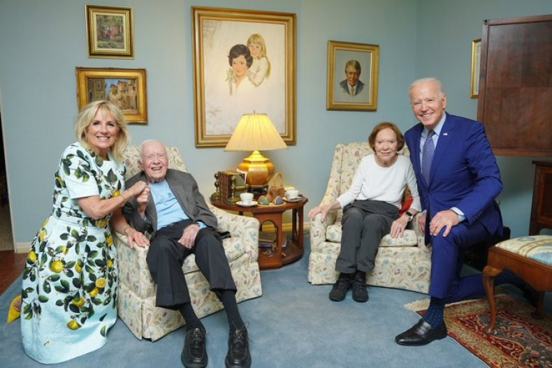 Joe and Jill Biden Meet the Carters