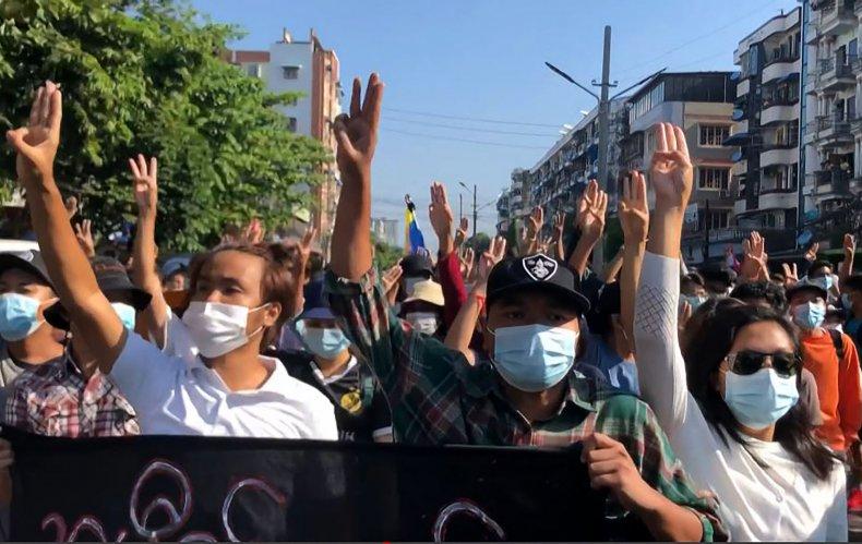 Mynamar Military Coup Protest