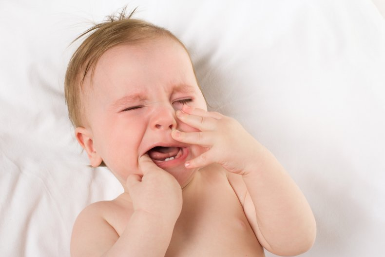 Sore gums from baby teething