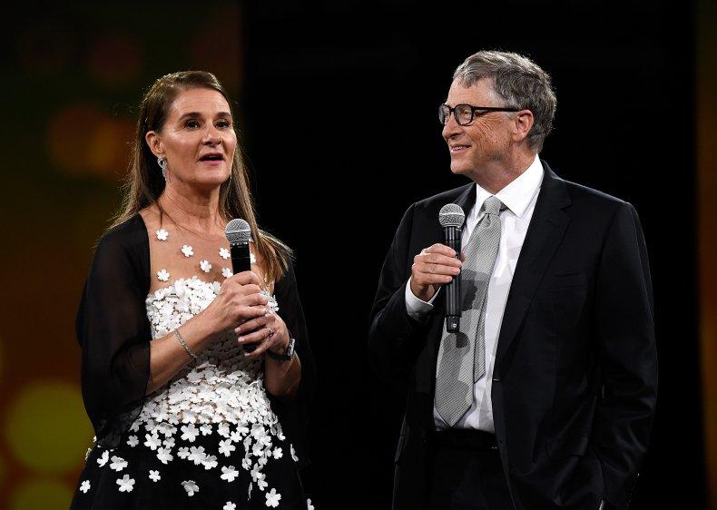 Melinda and Bill Gates at Benefit