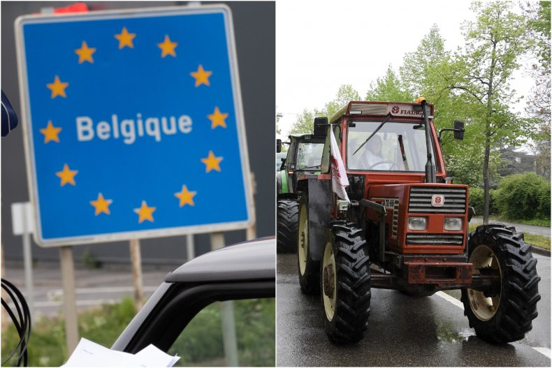 The border between Belgium and France was accidentally moved