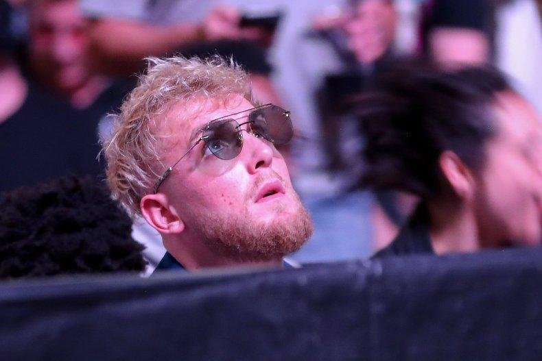 Jake Paul attends UFC 261