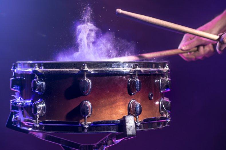 Stock image drumming