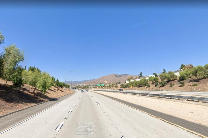 human foot California freeway