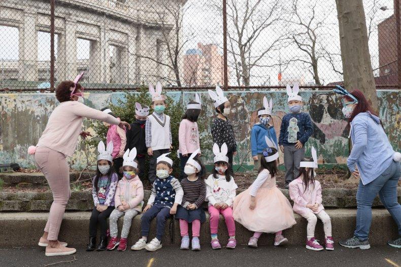 Young children class portrait NYC April 2021