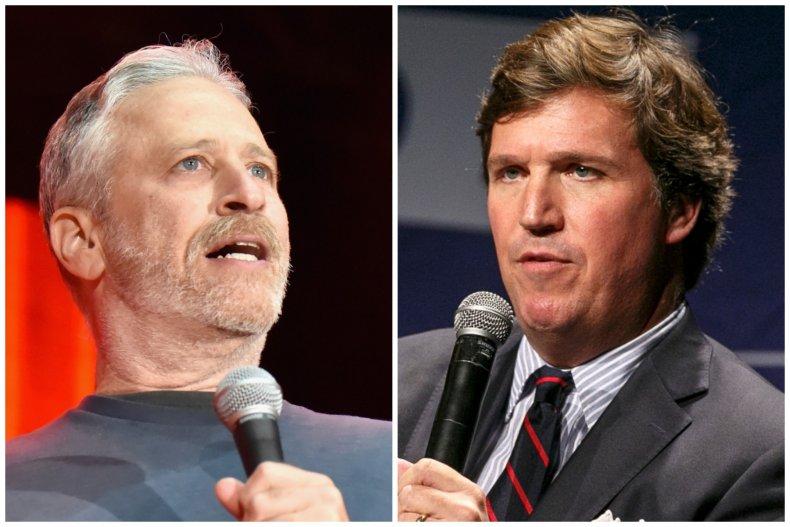 Jon Stewart and Tucker Carlson