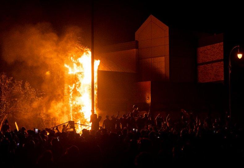 Minnesota Police Precinct Arson Fire Protests