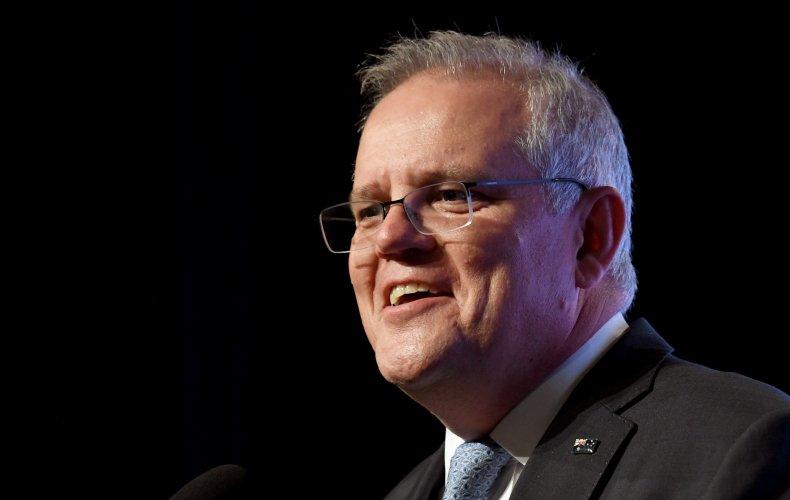 Australia's Scott Morrison Addresses Audience