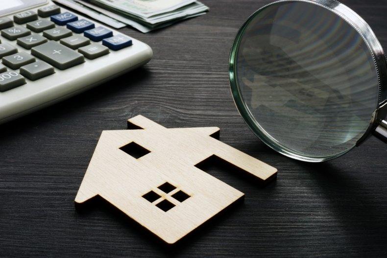 Home appraisal stock photo