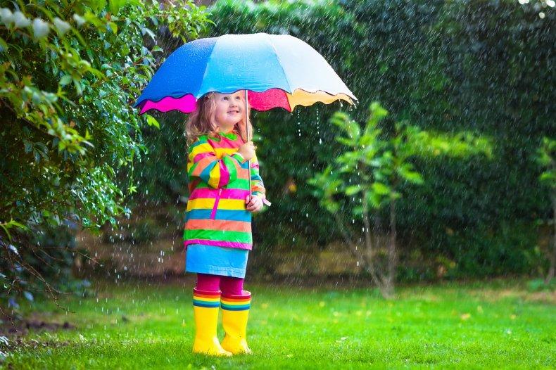 little girl umbrella