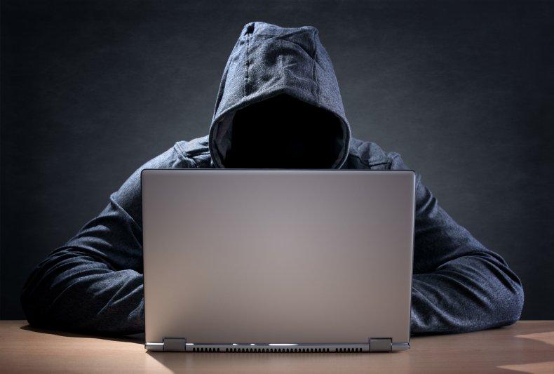 Person watching laptop