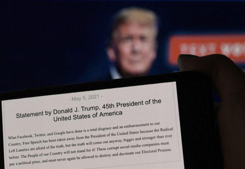 Former President Donald Trump statement