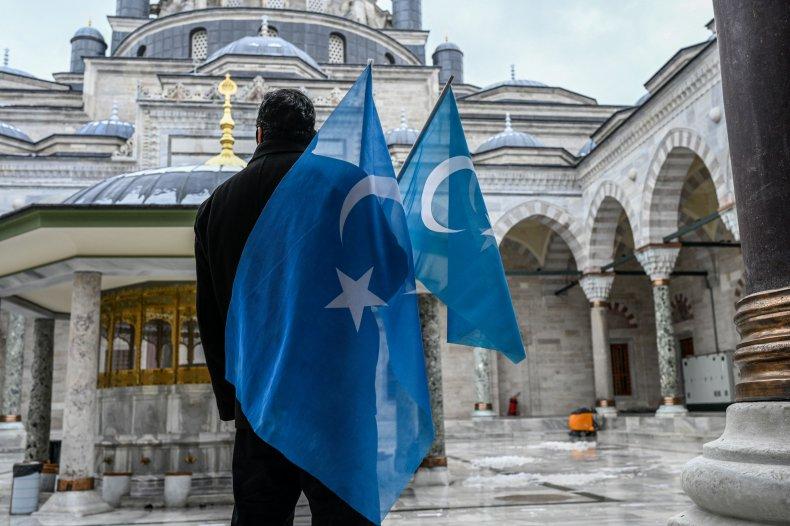 Uyghur Protestor