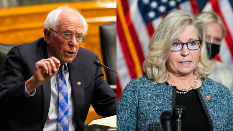 Bernie Sanders and Liz Cheney