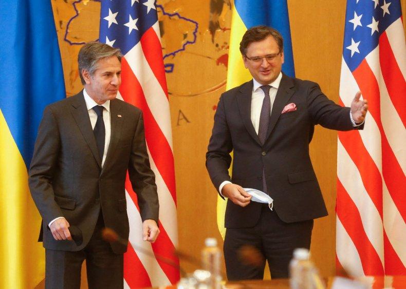 Ukrainian Foreign Minister Dmytro Kuleba and Blinken