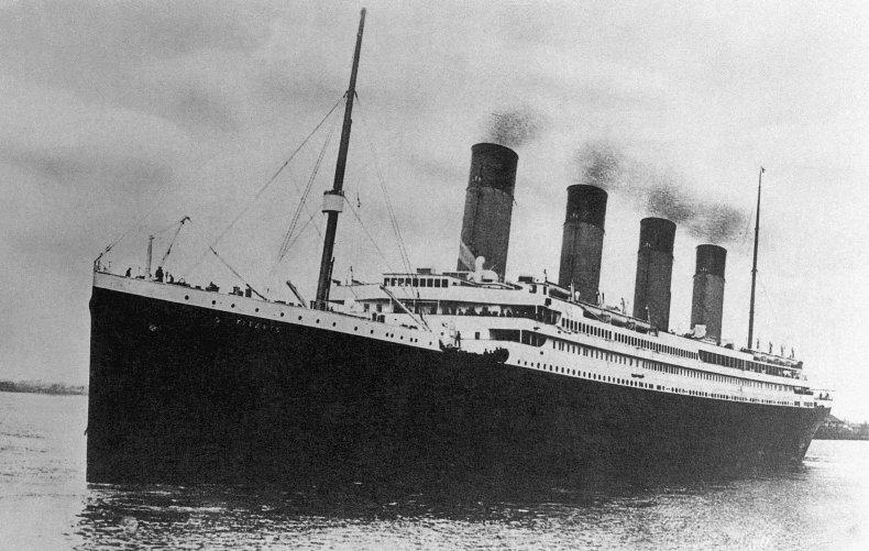 The White Star Line passenger liner R.M.S.