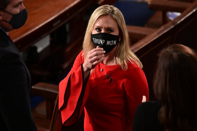 Marjorie Taylor Greene attends House session