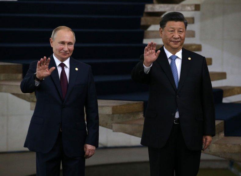 Vladimir Putin and Xi Jinping in Brazil