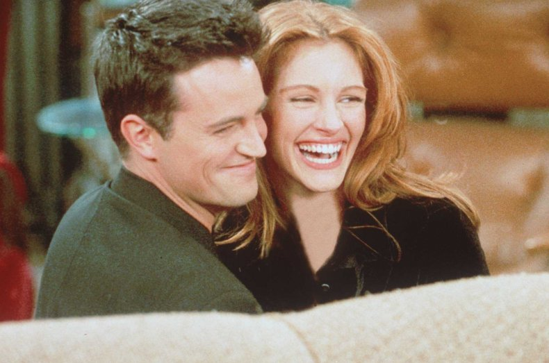 Julia Roberts with Matthew Perry on Friends