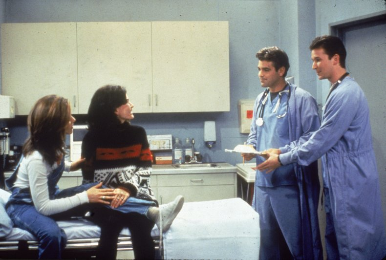 Noah Wyle and George Clooney on Friends
