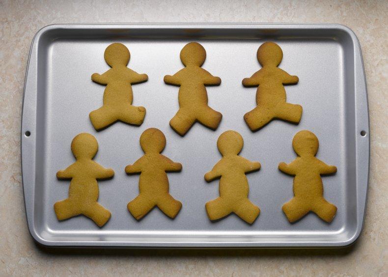 Stock image of gingerbread men