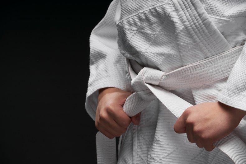 Boy in martial arts costume