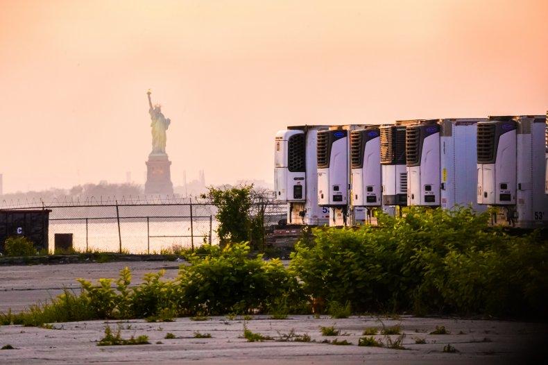 NYC COVID trucks