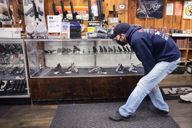Man Shops For a Handgun