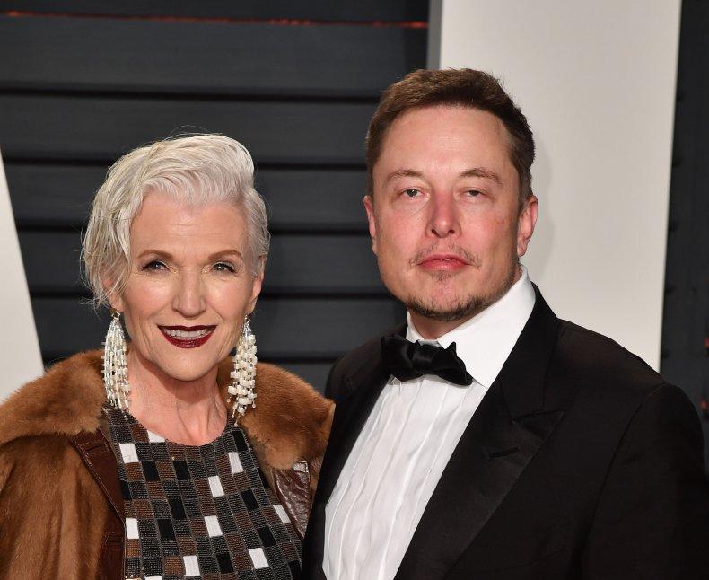 Maye Musk and Elon Musl