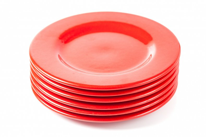 Stock image of red plates