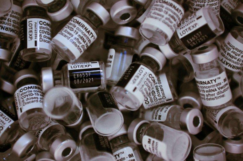 Pfizer vaccine vials pictured in Paris