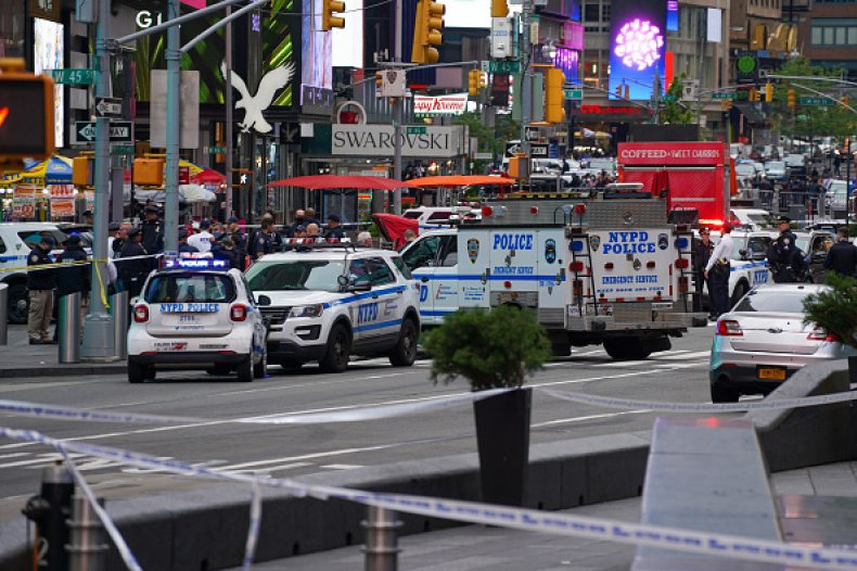 Police Officer Toddler Shooting Times Square